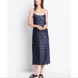 Vince Floral Silk Slip Dress